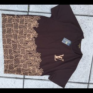 Louis Vuitton Logo T-shirt in brown